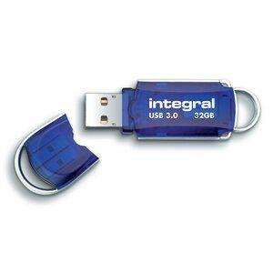 Integral Courier Flash Drive USB 3.0 Blue 32GB Ref INFD32GBCOU3.0