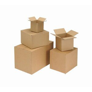 Packing Carton Single Wall Strong Flat Packed 305x229x229mm Brown [Pack 25]