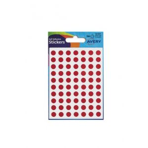 Avery Coloured Label Round 8mm Diameter Red (Pack 10 x 560 Labels) 32-301