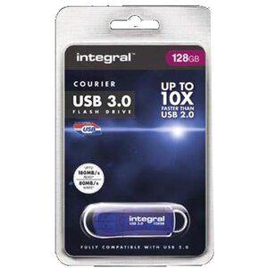 Integral Courier Flash Drive USB 3.0 Blue 128GB Ref INFD128GBCOU3.0
