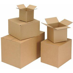 Packing Carton Single Wall Strong Flat Packed 330x254x178mm Brown [Pack 25]