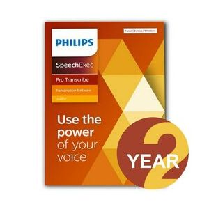 Philips LFH4512 SpeechExec Pro Transcribe - 2 Year Subscription (Download)