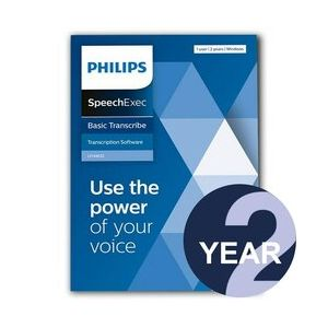 Philips LFH4612 SpeechExec Basic Transcribe Software - 2 Year Subscription (Download)