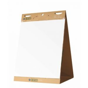 Bi-Office Earth-it Recycled Table Top Flipchart Pad Self Stick A1 20 Sheets (Pack 6)